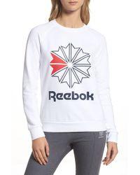Reebok - Starcrest Crew Neck (white) Women's T Shirt - Lyst