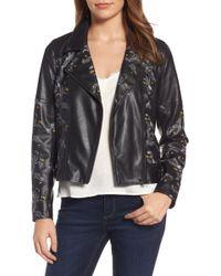 Chelsea28 | Print Faux Leather Jacket | Lyst