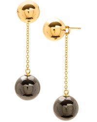 Gorjana - Newport High Polish Ball Chain Drop Earrings - Lyst