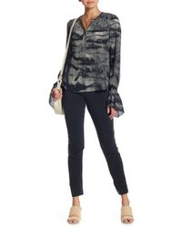Go> By Go Silk Slim Silk Blend Stretch Pants - Black