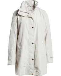 Via Spiga Packable Hooded Raincoat, White