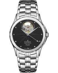 EDOX Watches Women's Grand Ocean Open Vision Swiss Automatic Bracelet Watch, 33mm - Metallic
