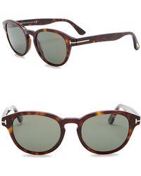 Tom Ford - Von Bulow Polarized 52mm Oval Sunglasses - Lyst