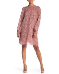 ABS Collection - Long Sleeve Mock Neck Baby Doll Dress - Lyst