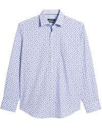 Bugatchi Classic Fit Woven Sport Shirt - Blue