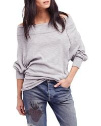 Free People Palisades Off The Shoulder Top - Gray