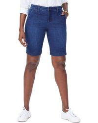 NYDJ Marilyn Stretch Denim Bermuda Shorts - Blue