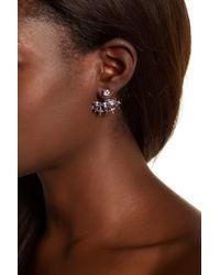 Stephen Dweck - Sterling Silver Rhodolite Garnet, Amethyst, & Iolite Detail Earrings - Lyst