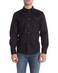Calvin Klein - Solid Raised Grid Slim Fit Shirt - Lyst