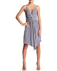 BCBGeneration - Striped Surplice Dress - Lyst