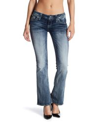 Rock Revival Whiskered Boot Cut Jeans - Blue