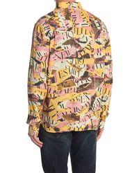 Saturdays NYC Mickey Decade Collage Logo Long Sleeve Shirt - Multicolor