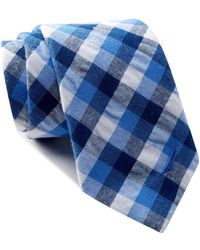 Nautica Addix Check Tie - Blue