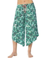 Room Service Satin Crop Pants - Green