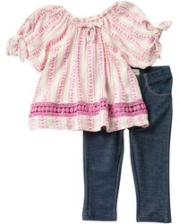 Jessica Simpson Peasant Top & Jeggings Set (baby Girls) - Multicolor