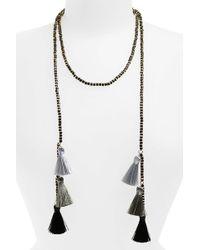 Panacea - Tassel Wrap Necklace - Lyst
