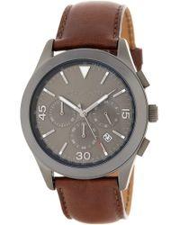 197f9ea5b MICHAEL Michael Kors - Gareth Chronograph Leather Strap Watch, 43mm - Lyst