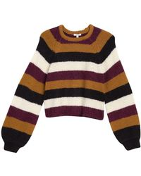 Joie Izzie Striped Balloon Sleeve Sweater - Multicolour