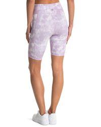 Threads For Thought Alma Tonal Wash Bike Shorts - Purple