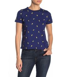 Love, Fire - Embroidered Crew Neck Tee - Lyst