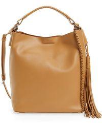 AllSaints - Mini Pearl Leather Hobo - Lyst