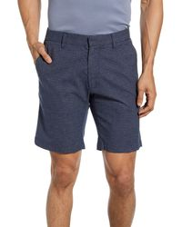 Zachary Prell Check Shorts - Blue