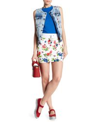 Love Moschino - Fruittini Drawstring Skirt - Lyst