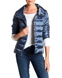 Save The Duck - Iridescent Quilted Coat - Lyst