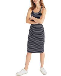 Madewell - Striped Racerback Midi Dress - Lyst