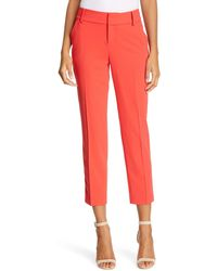 Alice + Olivia Stacey Slim Pants - Red
