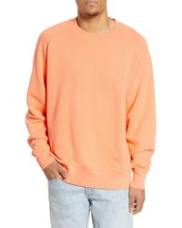 BP. Crew Neck Fleece Sweatshirt - Orange