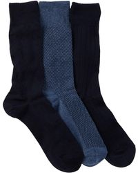 Cole Haan - Textured Argyle Crew Socks - Pack Of 3 - Lyst