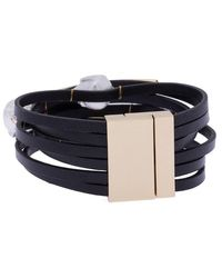 Saachi Achai 8mm Baroque Pearl Bracelet - Black