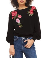 TOPSHOP - Stitchy Embroidered Jumper - Lyst