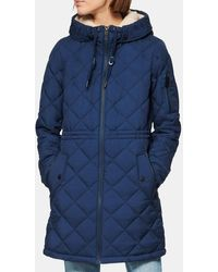 Marc New York Cascade Quilted Parka - Blue