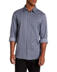 Perry Ellis - Spackle Slim Fit Long Sleeve Woven Shirt - Lyst