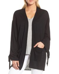 Trouvé - Trouv? Ruched Sleeve Cardigan - Lyst