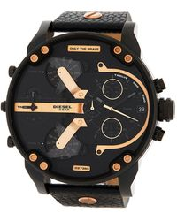 DIESEL - Men's Mr. Daddy Chronograph Leather Strap Watch, 57mm - Lyst