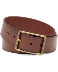 Frye - Burnished Leather Belt - Lyst