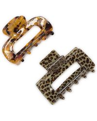 France Luxe Printed Cutout Jaw Clips - Multicolor