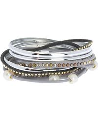 Saachi - Touch Of Cool Bead & 5mm Freshwater Pearl Accent Multi-strand Bracelet - Lyst