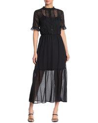 Kensie - Black Maxi Dress - Lyst