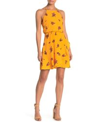 Lush - Floral Halter Chiffon Dress - Lyst