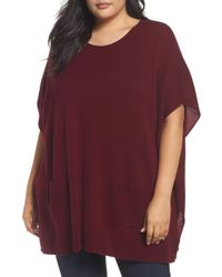 Sejour - Ribbed Pocket Poncho - Lyst