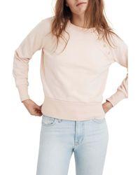 Madewell - Button Detail Sweatshirt - Lyst