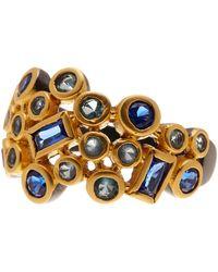 Freida Rothman - Modern Mosaic Cz Cluster Ring - Lyst