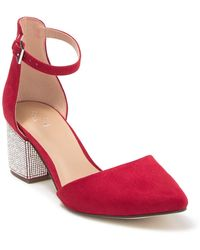 Call It Spring Yuliya Embellished Block Heel D'orsay Pump - Red