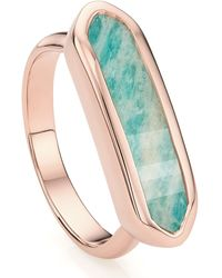 Monica Vinader 18k Rose Gold Vermeil Baja Ring - Metallic