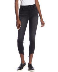 1822 Denim - Frayed High Rise Ankle Skinny Jeans - Lyst