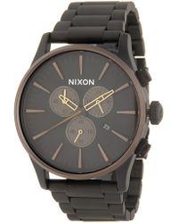 Nixon - Men's Sentry Chrono Watch, 42mm - Lyst